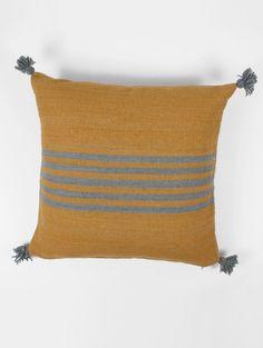 Bohemia-Wool-Stripe-Cushion-Square-Mustard