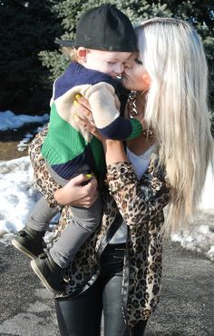 Great mommy and toddler style!