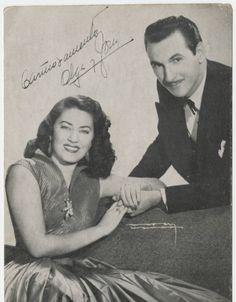 Olga Chorens & Tony Alvarez - (Radio Progreso Postcard) 1950s  Source: UM - Cuban Heritage Collection