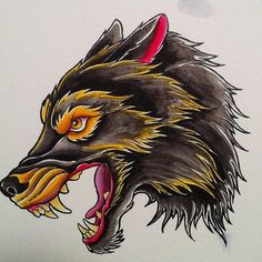 Neo Traditional Wolf