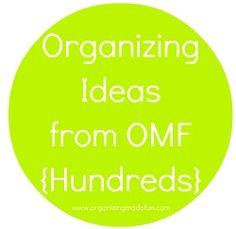 Tons of organizing ideas!