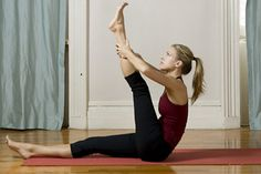 9. Leg climb  http://www.womenshealthmag.com/fitness/yoga-abs-workout/4-bridge-pose-setu-bandha-sarvangasana-variation