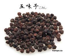 wu wei zi - schisandra berry: http://kampo.ca/herbs-formulas/herbs/gomishi/