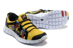 Nike Free Powerlines Mens Tour Yellow Black Rainbow 525267 267