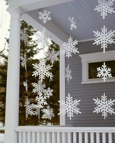 Snowflake templates to create your own frosty banners.