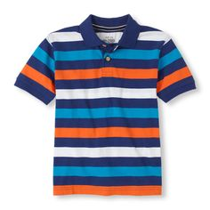 The Childrens Place - A fun polo with a pop of color!