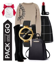 """""""packed"""" by mayaop on Polyvore featuring My Mum Made It, Aquazzura, Gucci and Victoria's Secret"""