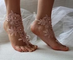 989c0d2fe685 barefoot sandals wedding lingerie lace gloves