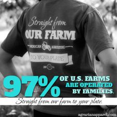 97% of all U.S. Farms are family owned and operated. #agaware #agproud #farmingfeeds #agriculture #farming