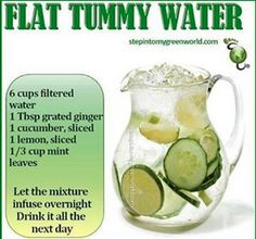 Juice for a flat stomach...