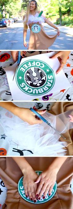 Easy Starbucks Costume | 15 Easy Halloween Costumes for Teens Girls