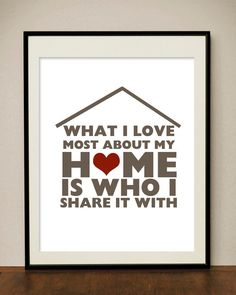 Home and Family Quote - Printable digital file