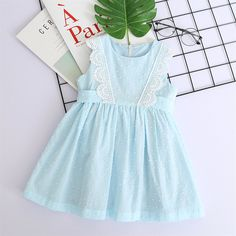 Self-Tie Floral Lace Romper Dress - Kids Shop Baby Girl Frocks, Frocks For Girls, Toddler Girl Dresses, Baby Girl Frock Design, Baby Girl Dress Patterns, Kids Dress Wear, Baby Frocks Designs, Daily Dress, Cute Baby Clothes