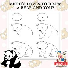 MICHI'S Loves to Draw A bear and what about you? #MICHIS  #Cartoon #bearCartoon #Kids #Kid #Painting #Bear