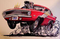 Car Caricature by itva.deviantart.com on @DeviantArt