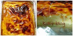 Kalli's blog: Γαλατόπιτα Μεσσηνιακή( χωρίς φύλλο) (in English too) Greek Recipes, Lasagna, Blog, Ethnic Recipes, Cross Stitch, Cakes, Food, Lasagne, Punto De Cruz