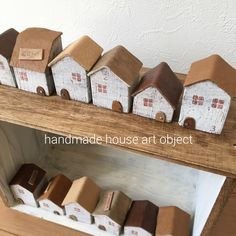 minneやってます*/革小物/セリア/お家オブジェ/おうちオブジェ/ハンドメイド…などのインテリア実例 - 2016-03-18 21:02:05 | RoomClip(ルームクリップ) Wood Block Crafts, Wood Blocks, Wood Projects, Clay Houses, Miniature Houses, Wooden Art, Wooden Crafts, Small Wooden House, Wooden Houses