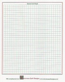 Free Printable Resource: Quilter's Graph Paper with 1/4