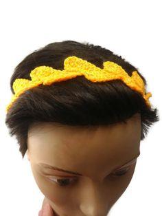 Crochet Headband  Spring Summer Headband Light Crochet asymmetrical pattern