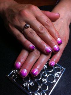 Beautiful ombré gel polish nails