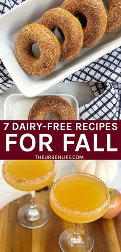 Fall baking is in full swing! From pumpkin spice, to apple cinnamon, salted caramel, and more. Try these easy dairy free recipes for fall! Vegan and gluten free options. Desserts, drinks, and dinner Dairy Free Recipes Easy, Allergy Free Recipes, Gluten Free, Pumpkin Donut Recipe Baked, Donut Recipes, Vegan Thanksgiving Dinner, Easy Vegan Dinner, Fall Recipes, Delicious Recipes