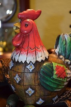Rooster decor for that country kitchen.  www.naturaluniquebirdhouses.com