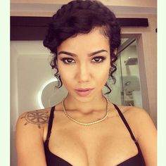 Jhene Aiko. i like her #tattoos and her #hairstyle in this pic