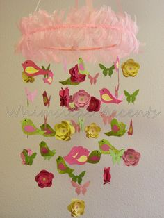 Spring Bird Butterfly and Flower Baby Mobile by whimsicalaccents