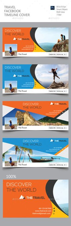 Travel Facebook Timeline Cover Template #design Download: http://graphicriver.net/item/travel-facebook-timeline-cover/12353555?ref=ksioks