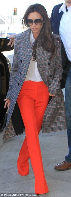 Victoria Beckham arrives at JFK just one day after flight out of LAX | Daily Mail Online