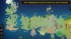 La Mappa gratuita completa del mondo di Game of Thrones in un App interattiva per Android e iOS: Map for Game of Thrones