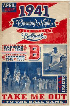 1940's Negro League Baseball poster
