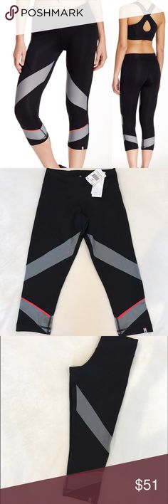 """New Adidas leggings New Adidas XS leggings Climalite technology and colorblock mesh inserts keep you cool when you train in this performance bottom. - Elasticized waist - Hidden waistband pocket at back - Topstitched seams - Approx. 9.5"""" rise, 20"""" inseam Adidas Pants Leggings"""