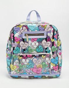 Skinnydip Heart Clear Backpack