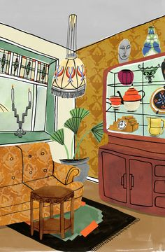 Bodil Jane's illustrations: ornate, exotic and really very lovely Art Deco Interior Bedroom, Home Interior, Interior Shop, Boutique Interior, Interior Office, Simple Interior, Interior Plants, Apartment Interior, Luxury Interior