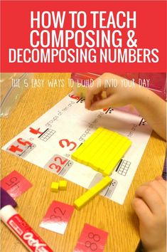 How to Teach Decomposing and Composing Numbers in Kindergarten - these are 5 easy ways to make it happen in my classroom Homeschool Math, Preschool Education, Homeschooling, Math Coach, Second Grade Math, Grade 1, Numbers Kindergarten, Math Groups, Math Intervention