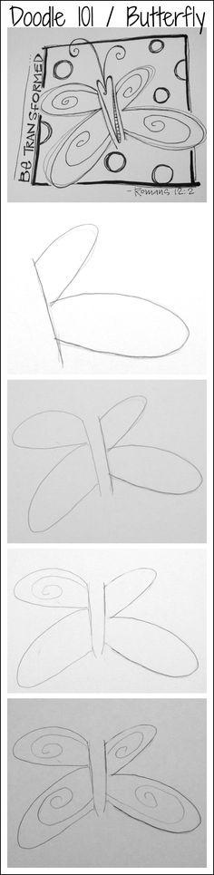 Bible Art Journaling/Doodle 101/Butterfly/Sue Carroll
