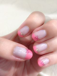 Bow water decal nailart