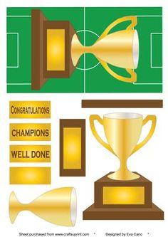 Football trophy congratulations  by Eva Cano