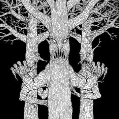 """SOLD today (2/29/2016) through Redbubble: 1x Sticker of """"Denizens of the Diabolic Wood"""" Size: Small (3.0"""" x 4.0"""")"""