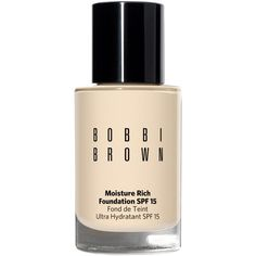 Bobbi Brown Moisture Rich Foundation Broad Spectrum Spf 15, 1 oz (£40) ❤ liked on Polyvore featuring beauty products, makeup, face makeup, foundation, alabaster, spf foundation, bobbi brown cosmetics, moisturizing foundation, hydrating foundation and dry skin foundation
