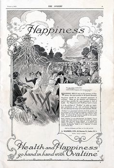 """""""health and happiness go hand in hand with Ovaltine"""""""