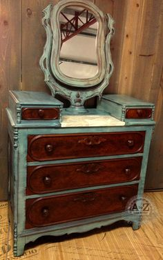 Milk Painted Chest with Hymnal Covered Marble