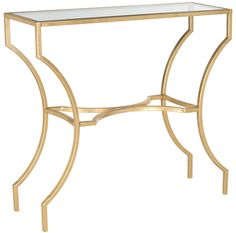 Alphonse Console Gold/Tempered Glass Top
