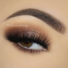 classic brown smokey eye w/ shimmer @melissasamways #makeup