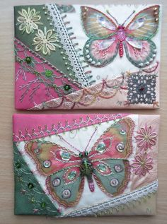 This are the covers for a fabricbook to keep creditcards etc. | by Margreet from Holland