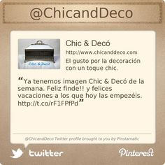 .@ChicandDeco's Twitter profile #FF