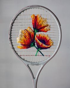 Embroidery in Tennis racquet @fiance_knowles