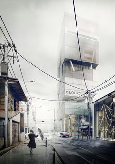 The Art of Rendering: How to Create an Atmospheric Urban Scene Using SketchUp and V-Ray Architecture Panel, Architecture Graphics, Architecture Drawings, Architecture Portfolio, Architecture Design, Japan Architecture, Architecture Diagrams, 3d Architectural Visualization, Architecture Visualization