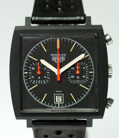 "The ""Dark Lord"" - black PVD Heuer Monaco"